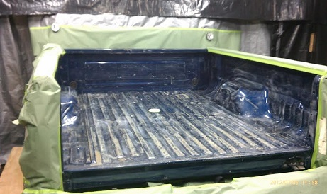 Bed liner before